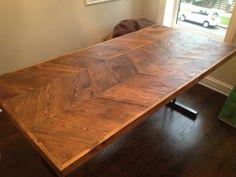 Chevron Kitchen Table by UltimateDIYGuy on Etsy, $1200.00