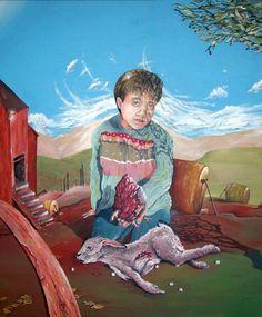 """""""Cuore di Mamma""""  acrilico su tela 100x120cm 2013"""