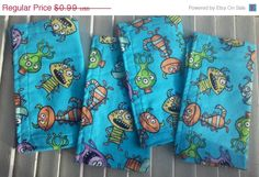 10% OFF Children's  Cloth Napkins Colorful Monsters Print Lunchbox/Luncheon