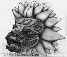 Quetzalcoatl has a face that's slightly canine or feline, reminiscent of the faces of chinese dragons also