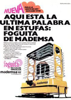 Publicidad de la estufa Mademsa Foguita, Chile año 1976