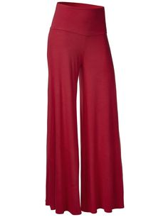 Women High Waist Wide Leg Pants Modal Chic Palazzo Lounge Pants Loose pants