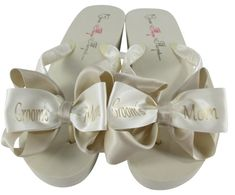 e5be9f8154876 Groom s Mom Flip Flops  Champagne  Mother of the