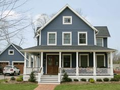 thisoldhouse.com | from Best Whole House Before & Afters 2013  -- I like the porch railing