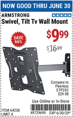 Harbor Freight Tools, Wall Mounted Tv, Tilt, Wall Mount Tv Stand
