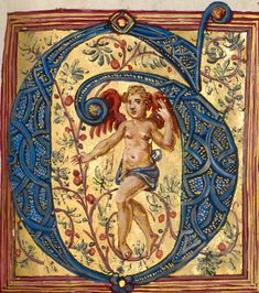 Missal of Bishop Antonio Scarampi, Italian, 1567 Ms. Ludwig V 7 Initial G: A Dancing Putto Artist/Maker: Fra Vincentius a Fundis (Italian, active about 1560s) Culture: Italian Place: Nola, Campania, Italy, Europe (Place created) Date: 1567 http://www.getty.edu/art/collection/objects/3153/fra-vincentius-a-fundis-initial-g-a-dancing-putto-italian-1567/?dz=0.5000,0.7631,0.44