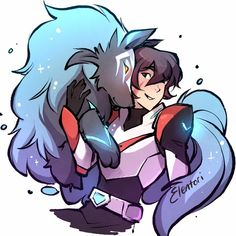 Keith the Red Paladin and Kosmo the Space Wolf from Voltron Legendary Defender Voltron Klance, Voltron Fanart, Form Voltron, Voltron Ships, Voltron Force, Voltron Memes, Voltron Comics, Wolf Poster, Animes Yandere