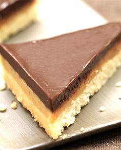 Triângulos de Chocolate e Caramelo