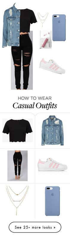"""""""#3  casual day"""" by alexisisthebom on Polyvore featuring FACE Stockholm, Ted Baker, Topshop and adidas"""