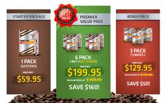 Conveniently available in 1, 3, 6 and 16 box packs.  24 sachets per box.  Delivered directly to the address of your choice.  www.slenderyoucoffee.com
