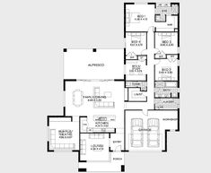 You'll have to squint to see this one today (sorry!), but I thought it was still worthy of a share. I like this plan! It's 5 bedrooms with 3 living areas, a workshop in the garage and good storage. Overall I'd probably make the home fractionally bigger (if it fits on your block of land). …
