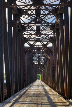 size: Photographic Print: An Old Steel Bridge That Crosses the South Saskatchewan River by Pete Ryan : Bridges Architecture, Love Bridge, Steel Bridge, Old Bridges, Saskatchewan Canada, Water Art, Covered Bridges, Urban Landscape, Canada Travel