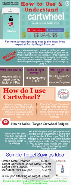 "Do you love shopping at Target? Then it's time to save with Target Cartwheel and Target coupon stacking to save even more this year! Click through for a full question and answer on ""What is Target Cartwheel""    Shop until you drop but these savings will help you live within your means! ☺"