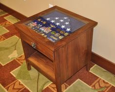 Shadow box ideas like military shadow box ideas, diy shadow box ideas, shadow box frame ideas, newbron shadow box, and etc Shadow Box Table, Diy Shadow Box, Shadow Box Frames, Military Home Decor, Military Crafts, Military Retirement, Retirement Ideas, Military Shadow Box, Christmas Shadow Boxes