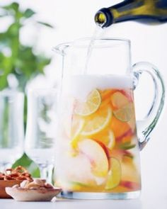 Cava Sangria | Canadian Living _________________________ Enjoyed by all!