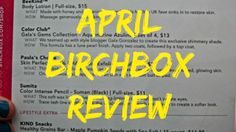 The Life of Annelise: April Birchbox Review