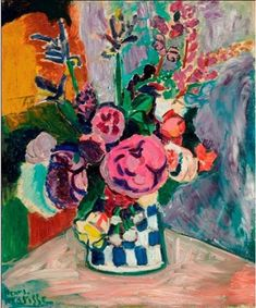Henri Matisse: Painted at Collioure in late spring 1907, Les Pivoines combines the gestural brushwork of Fauvism with the abstract, intangible space of Matisse's revolutionary decorative mode. Within weeks of its creation, Les Pivoines was acquired for the Galerie Bernheim-Jeune by the critic Félix Fénéon, said to possess the most discerning eye for modern art in all of Paris