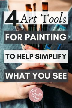 These are really unique and clever art tools for painting that I hadn't ever thought about! Really is important to simplify when painting and these really are helpful artist tools to do just that!! #arttools #artisttools #artsupplies Oil Painting Techniques, Acrylic Painting For Beginners, Acrylic Painting Tutorials, Painting Tools, Art Techniques, Easy Canvas Art, Simple Canvas Paintings, Realistic Paintings, How To Start Painting