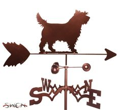 Hand Made Cairn Terrier Dog Weathervane NEW by swenproducts