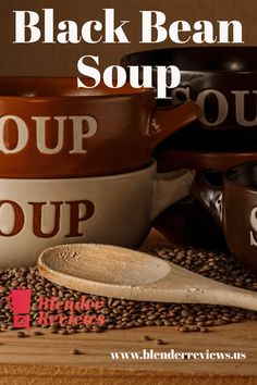 Spicy black bean soup to warm you up. Fast and easy black bean soup made with your blender. Simple soup recipe to spice up your day. Ninja Blender Recipes, Vitamix Recipes, Easy Soup Recipes, Gourmet Recipes, Healthy Recipes, Delicious Recipes, Blender Soup, Easy Black Bean Soup, Black Beans