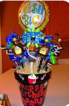Liquor bouquet for John since I'm shadowing his day with my wedding!