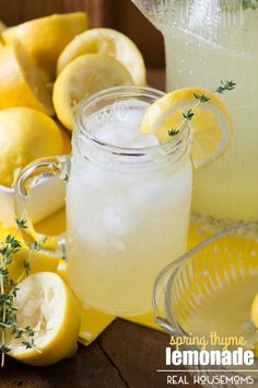 Spring Thyme Lemonade | Community Post: 27 Heavenly Things To Make When Life Gives You Lemons