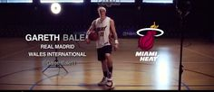 Real Madrid star Gareth Bale takes the Challenge. Basketball Videos, Basketball Court, Bale Real, Gareth Bale, Real Madrid, Nba, Challenges, Watch, Clock