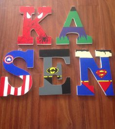 Hand painted Superhero wall letter price per by TheDapperDolly