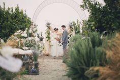 shabby chic wedding ceremony
