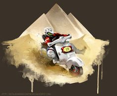 Commission for Pilot of #Vespa (Marcello Dibrogni) by ~nicolasketch on deviantART
