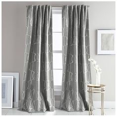 Dkny Atrium Window Panels ($90) ❤ liked on Polyvore featuring home, home decor, window treatments, curtains, grey, metallic home decor, metallic curtains, gray home decor, shimmer curtains and dkny