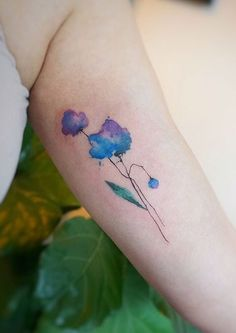 G.NO watercolor flower tattoo