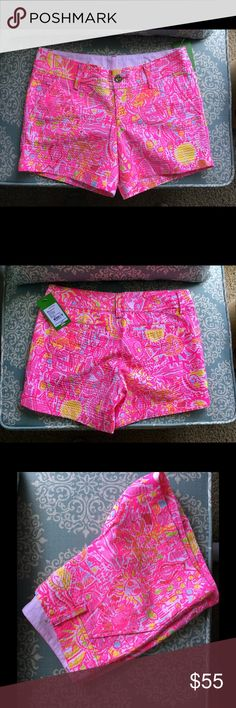 Pink Pout 💕callahan short shorts  0 or 00. Small New with tags, I have two pairs 0 and 00 you choose one 😊 FIRM Lilly Pulitzer Shorts