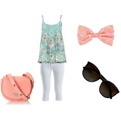 Summer break by magicandpeanut on Polyvore featuring M&Co, VILA, MARC BY MARC JACOBS and Chanel