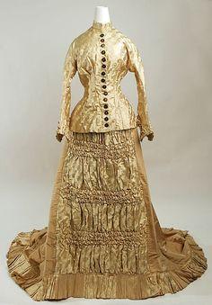 Wedding dress, c. 1880, American, silk. Metropolitan Museum of Art.