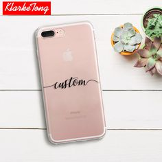 DIY Name Custom Design Print Case Cover For iPhone 6 6s 5 5s SE 7 7Plus Flower City Customized Soft Silicone TPU Coque Capa #Affiliate