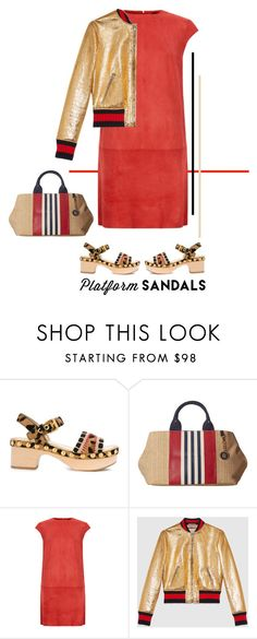 """""""Stand Up! Platform Sandals"""" by musicfriend1 ❤ liked on Polyvore featuring Carshoe, Tommy Hilfiger, MuuBaa, Gucci and platforms"""