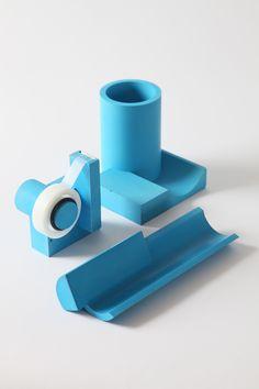 Penholder, cardholder tray and tape dispenser designed by Yen Wen Tseng for Taiwanese 22 Design Studio