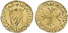 France (Dombes) Principality) Louis II de Bourbon-Montepensier 1/2 Pistole 1575 Trevoux Mint my collection