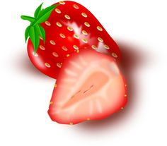 Φράουλα, Φρούτα, Κομμένο Σε Φέτες
