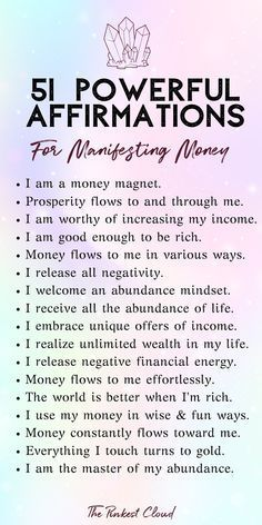 Wow money affirmations to manifest wealth, prosperity and abundance using the secret law of attraction manifesting techniques are incredible to manifest money, manifest wealth, manifest abundance, law. Daily Positive Affirmations, Positive Affirmations Quotes, Wealth Affirmations, Morning Affirmations, Affirmation Quotes, Affirmations For Success, Healing Affirmations, Quotes Positive, Positive Thoughts