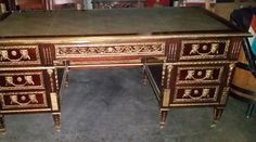 Large Executive Desk, Leather Top Desk, High End Desk,Goldavailable girlsauction2 ebay http://stores.ebay.com/GirlsOhioauction2?_rdc=1