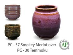 Smokey Merlot is a warm, dark purple glaze with a soft float of lilac over the surface. This glaze looks stunning on smooth surfaces, over textured surfaces, an Glazes For Pottery, Pottery Art, Amaco Glazes, Ceramics Projects, Glaze Recipe, Dark Purple, Dark Brown, Looking Stunning, Clay Crafts