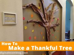 How to Make a Thankful Tree for Your Wall! - #thanksgiving #gratitude #crafts
