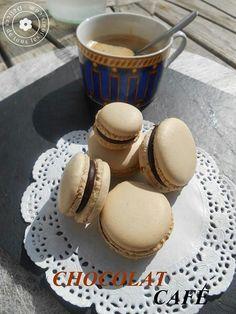 Macaron chocolat café