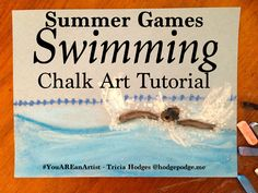 One of the favorites of the Summer Games is the swimming events. This summer games swimming chalk art tutorial is a fun way to build a love of art!