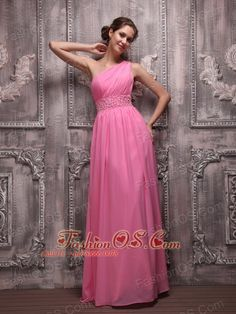 One Shoulder Chiffon Beading Rose Pink Recommended Party Dresses for Prom Cheap Pageant Dresses, Wholesale Prom Dresses, Pagent Dresses, Inexpensive Prom Dresses, Discount Prom Dresses, Prom Dress 2013, Pink Party Dresses, Strapless Prom Dresses, Open Back Prom Dresses