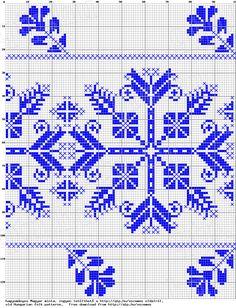 Cross-stitch Beautiful Border... no color chart, just use pattern chart colors as your guide.. or choose your own colors...    Magyar Népművészet VII. Székely hímzések