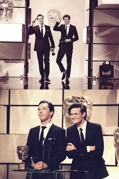 bahaha their faces! Benedict and Matt!