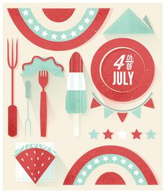 4th of July Illustration | 2015 on Behance